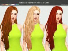 Sims 4 Hairs ~ Kot Cat: LeahLillith Heartburn Hair Clayified