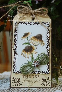 Thank You Tag - FTTC214 & RRR69 by rosekathleenr - Cards and Paper Crafts at Splitcoaststampers