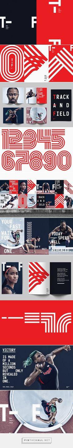 It's Nice That | Build and the Nike brand team creates bold branding for Nike's Track and Field line... - a grouped images picture - Pin Them All: