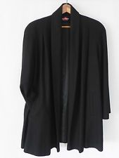 Vtg Alorna Wool Swing Coat Black Draped A-Line Size L/XL Full Lining £55.92 (BIN)