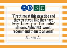 """""""First time at this practice and they treat you like they have always known you... The doctor's office is AMAZING - would recommend them to anyone!""""  Thank you Karen L. and everyone who has shared their reviews on our Facebook page - we love getting your feedback! Read more here: https://www.facebook.com/shelbydermatology/reviews"""