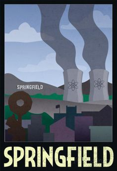 Springfield Retro Travel Poster poster