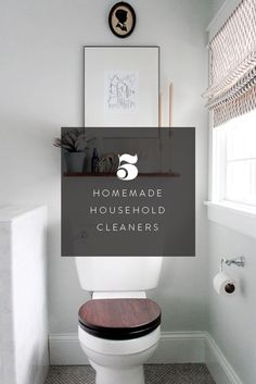 5 Homemade Household Cleaners via @PureWow All Purpose, Glass, Laundry detergent, air freshener, toilet bowl cleaner