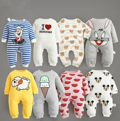 Baby clothes ! 2017 New arrive newborn bodysuits baby spring autumn wear pure cotton infant clothing,baby bodysuit, clothes baby