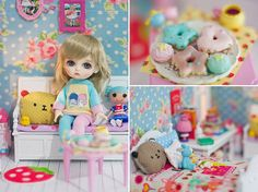 """Sweet Pastel"" by Cyristine  #doll #lati #dollhouse #miniature #sweet #pastel #rement #re-ment #diorama"