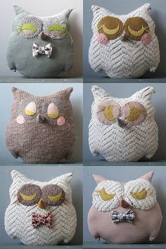 fabric owl pillows