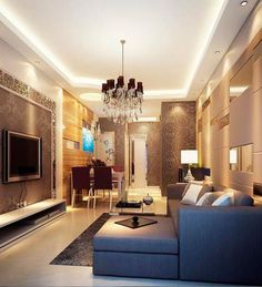 Living Room Designs For Small Rooms false ceiling design small apartment | room interior, flat screen