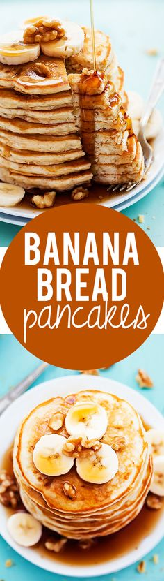 Banana Bread Pancakes | Creme de la Crumb