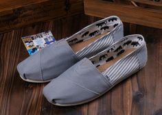 buy cheap Grey #Toms University #Stripe Mens Shoes