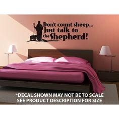 """Don't Count Sheep"" Wall Décor Decal $6.99"