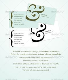 creative writer business cards - Google Search