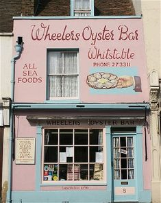 Wheelers Oyster Bar dates back to 1856 and is not only an amazing fish restaurant but also has delicious homemade fayre to take away High Street, Whitstable, Kent). Seaside Restaurant, Restaurant Interiors, Restaurant Design, Whitstable Kent, Best Fish And Chips, Uk Beaches, England Ireland, Beach Cafe, Oyster Bar