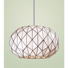 loving this faceted chandelier!