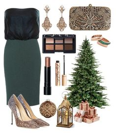 """green and bronze"" by unchie18 on Polyvore featuring Tom Ford, Sterling, Jimmy Choo, Improvements, Accessorize, Thot, Bloomingdale's, Charlotte Tilbury, Bronzallure and NARS Cosmetics"