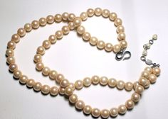 1960s Rare Christian Dior two strands faux pearl necklace made in the sixties in Germany probably made by the famous jeweler Grosse and Henkel. This high