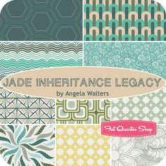Jade Inheritance Legacy Fat Quarter Bundle Angela Walters for Art Gallery Fabrics