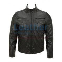 Semi Fashion Moto Leather Jacket for $139.30 - https://www.leathercollection.com/en-we/fashion-leather-jacket-flj-1482-en.html