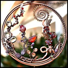 Wire Wrapped Fine Gemstone and Crystal by IntrinsicDesignsArt