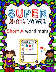 Short A build the words. Great to use with magnetic letters. Includes two sets: one set with pictures and the other set with pictures and the word to help the students. Check it out at Mrs. K's Klubhouse