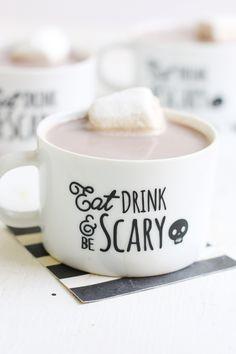 DIY Halloween Mugs | Halloween Ideas