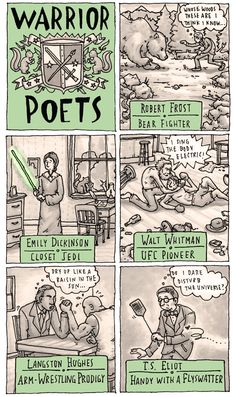 Warrior poets by Grant Snider.Classic