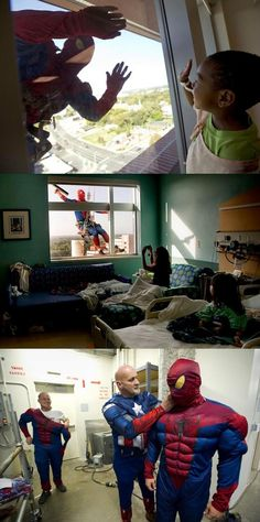 window washers at a children's hospital. so sweet!
