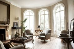 Beautiful. I love the arched windows and totally traditional style, but the light and airyness makes it feel modern