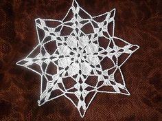 MelinetDecorCrochet / Háčkovaná dečka hviezda