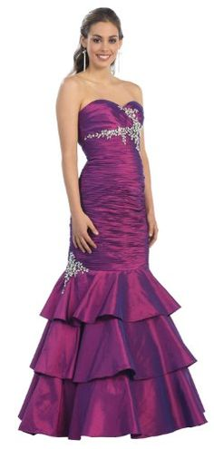 Ball Gown Strapless Taffeta Ruffled Formal Prom « Dress Adds Everyday