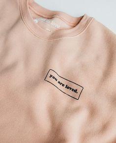 You Are Loved Peach Crewneck Sweatshirt – walk in love. Christian Clothing, Christian Shirts, Cute Sweatshirts, Cute Shirts, Walk In Love, Crew Neck Sweatshirt, Sweatshirt Outfit, Shirt Dress, Diy Clothes