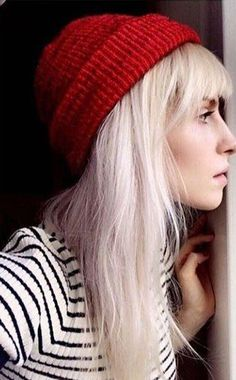 Hayley Williams white blond hair.