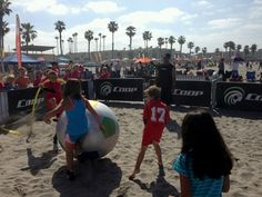 The Fun Zone at the Coop Sports Sand Soccer event out at Oceanside, CA.