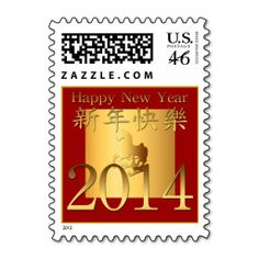 2014 Year of the Horse Chinese New Year - Postage. This great business card design is available for customization. All text style, colors, sizes can be modified to fit your needs. Just click the image to learn more! Chinese New Year 2014, Chinese New Year Poster, Happy New Year 2014, New Years Poster, Year Of The Horse, Horse Gifts, Text Style, Self Inking Stamps, Stamp Collecting