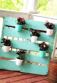 Rustic yet beautiful flower display.