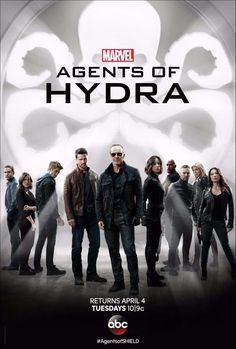 Agents of S.H.I.E.L.D. stars Clark Gregg, Chloe Bennet, Ming-Na Wen, Iain De Caestecker, Elizabeth Henstridge and Henry Simmons. The series returns to ABC Tuesday, April 4 at 10 pm ET/PT.