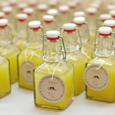 Yummy wedding favors for the 21+ up crowd #alcohol #yellowwedding