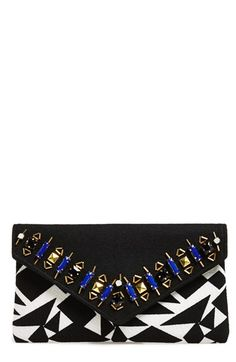 Shiraleah 'Nancy' Embellished Envelope Wool Clutch available at #Nordstrom