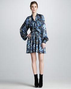 Rachel Zoe Arielle Bishop-Sleeve Dress