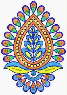 Hand Embroidery Design Patterns, Embroidery Works, Machine Embroidery, Butterfly Stencil, Rangoli Designs Flower, Folk Art Flowers, Dress Design Sketches, Free Hand Drawing, Indian Patterns