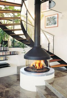 CFD offers several Suspended and hanging fireplaces for both residential and commercial applications.