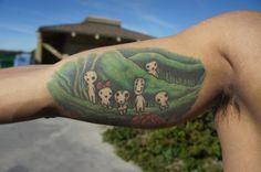 Princess Mononoke tatoo done by Justin Cota (IG: @justincotapop) at Red Crow Studio San Diego, CA.