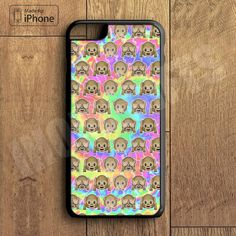 Funny Monkey Art Emoji Tye Dye Cool Phone Case For iPhone 6 Plus For iPhone 6 For iPhone 5/5S For iPhone 4/4S For iPhone 5C-5 Colors Available