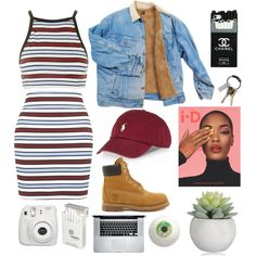 A fashion look from January 2016 by yele-fernandez featuring Motel, Timberland, Dunhill, CB2, Dunn, women's clothing, women's fashion, women, female, woman, mis...