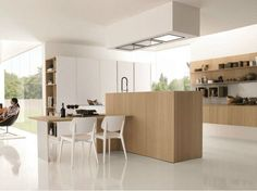 Wooden fitted kitchen KUBIC 3 by Euromobil | design Roberto Gobbo