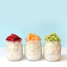Découvrez une recette de petit-déjeuner vegan et sans gluten qui se prépare la veille en 3 mn ! On se réveille, et notre porridge est prêt dans le frigo !