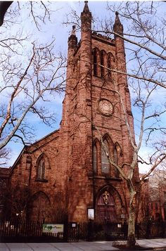 Christ Church, Cobble Hill, Brooklyn; built in 1842, Tiffany altar and windows installed in 1916.