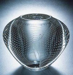 Bubble Vase by Josh Simpson. Unknown date. Cast glass with inclusions, tiny pockets of air from the time it was made.