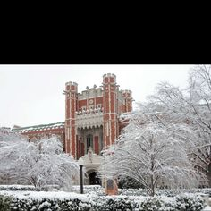 Winter scene in Norman, Oklahoma. I worked just around the oval in University College. Go Sooners! Oklahoma Sooners Football, Norman Oklahoma, University Of Oklahoma, University College, Boomer Sooner, Way Of Life, Winter Scenes, Places To Go, Outdoor