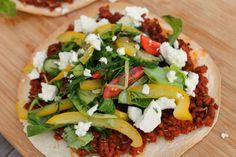 Jamie's Turkse pizza met lamsgehakt