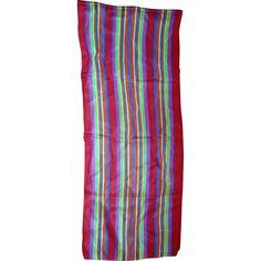 Liz Claiborne Rainbow Stripe Oblong Silk Scarf